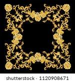 Golden Mirror Frame Decorated...
