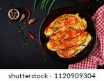 chinese cabbage. kimchi cabbage.... | Shutterstock . vector #1120909304