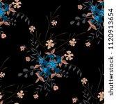 little floral seamless pattern... | Shutterstock .eps vector #1120913654