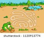 interesting labyrinth maze... | Shutterstock .eps vector #1120913774