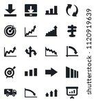 set of vector isolated black... | Shutterstock .eps vector #1120919639