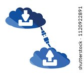 cloud connection icon. flat...
