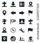 set of vector isolated black... | Shutterstock .eps vector #1120927265