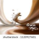 liquid chocolate  caramel or... | Shutterstock .eps vector #1120927601