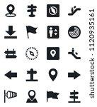 set of vector isolated black... | Shutterstock .eps vector #1120935161