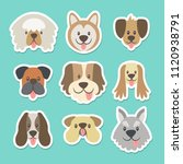 cute sticker collection with... | Shutterstock .eps vector #1120938791