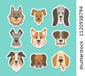 cute sticker collection with... | Shutterstock .eps vector #1120938794