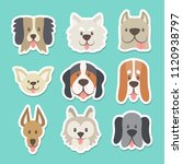 cute sticker collection with... | Shutterstock .eps vector #1120938797