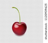 cherry isolated transparent... | Shutterstock .eps vector #1120939625
