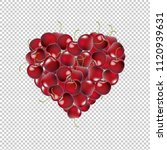 heart from cherry transparent... | Shutterstock .eps vector #1120939631