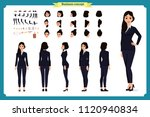 business woman fashion. front ... | Shutterstock .eps vector #1120940834