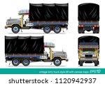 vector eps10   vintage lorry... | Shutterstock .eps vector #1120942937