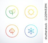 set of season icons. vector... | Shutterstock .eps vector #1120945394