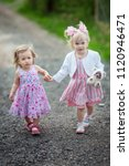 girls are walking in the fresh... | Shutterstock . vector #1120946471