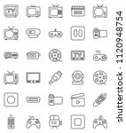 thin line vector icon set  ... | Shutterstock .eps vector #1120948754