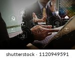 futuristic in industry 4.0 and... | Shutterstock . vector #1120949591