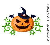 halloween vector pumpkin | Shutterstock .eps vector #1120959041