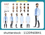 doctor elderly man character... | Shutterstock .eps vector #1120960841