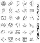 thin line vector icon set  ... | Shutterstock .eps vector #1120961951