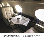 interior of a private luxury jet | Shutterstock . vector #1120967744