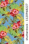 vintage tropical pattern with... | Shutterstock .eps vector #1120968227