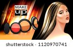 beauty and make up background... | Shutterstock .eps vector #1120970741