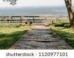 stone path in the countryside | Shutterstock . vector #1120977101