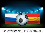 football stadium with the ball... | Shutterstock .eps vector #1120978301