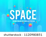 abstract bluegeometric... | Shutterstock .eps vector #1120980851