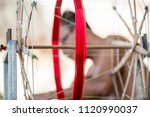 a silk weaving factory at the... | Shutterstock . vector #1120990037