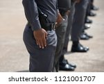 police training and armed with...   Shutterstock . vector #1121001707