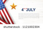 4th of july   background for... | Shutterstock .eps vector #1121002304