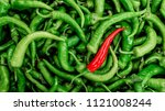 Red Pepper On Green Peppers...