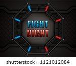 vector illustration of mma cage.... | Shutterstock .eps vector #1121012084