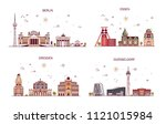 business city in germany.... | Shutterstock .eps vector #1121015984