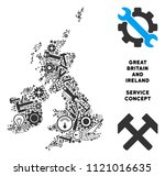 service great britain and... | Shutterstock .eps vector #1121016635