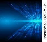 blue abstract technology...   Shutterstock .eps vector #1121025644