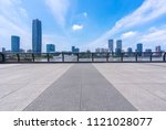 panoramic city skyline with... | Shutterstock . vector #1121028077