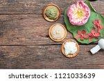 spa treatment equipments... | Shutterstock . vector #1121033639