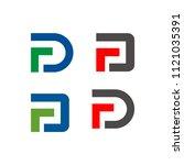 fd or df logo initial letter...   Shutterstock .eps vector #1121035391