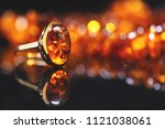 jewelry with amber stones ... | Shutterstock . vector #1121038061