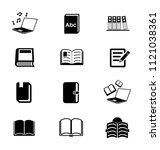 library books icons set  ... | Shutterstock .eps vector #1121038361