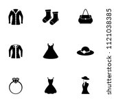 vector fashion design illustrations - woman shopping icons set. beauty accessories collection | Shutterstock vector #1121038385