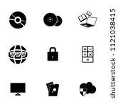 vector computer network set.... | Shutterstock .eps vector #1121038415