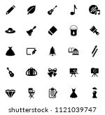 vector art icons. graphic... | Shutterstock .eps vector #1121039747