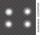 set of vector glowing light...   Shutterstock .eps vector #1121049104