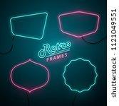 retro frame neon signs set.... | Shutterstock .eps vector #1121049551