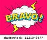 bravo  comic vector cartoon... | Shutterstock .eps vector #1121049677
