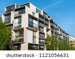 modern luxury residential... | Shutterstock . vector #1121056631