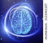 human brain. abstract...   Shutterstock .eps vector #1121061107